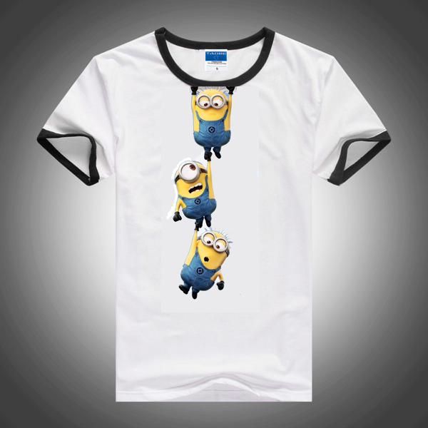 new 2015 boys girl t shirt despicable me 2 minions short t. Black Bedroom Furniture Sets. Home Design Ideas