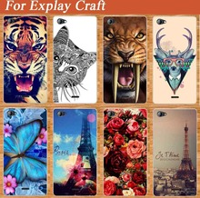 Luxury Style case For Explay Craft Beautiful Rose Explay Craft Design Blue Butterfly Protector mobile phone Back skin case cover