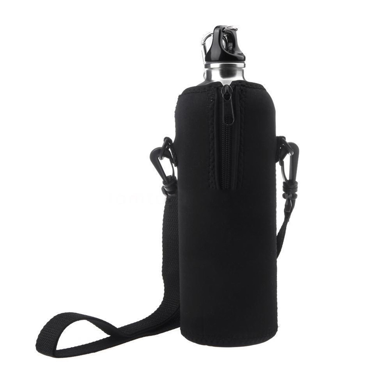 1000ML Water Bottle Carrier Insulated Cover Bag Pouch Holder With Shoulder Strap Outdoor Sport Travel Kit(China (Mainland))
