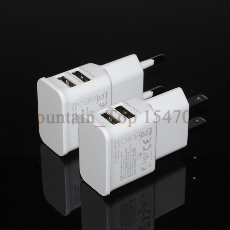 3 Ports USB Wall Charger Travel Adapter for iPhone6 6s 6Plus iPod 5V 2A EU Plug AC Power Charger for Samsung LG Moblie Phone
