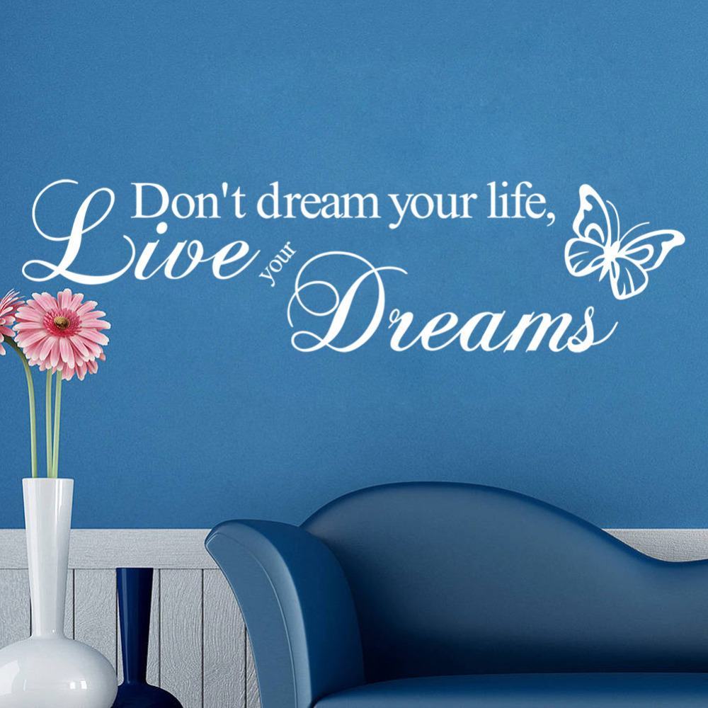 don 39 t dream your life butterfly creative wall decals 8142