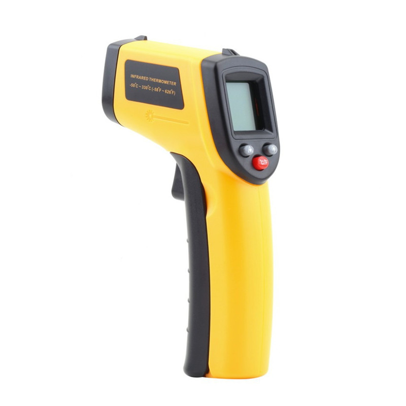 GM320 Laser LCD Digital IR Infrared Thermometer Temperature Meter Gun Point -50~330 Degree Non-Contact Thermometer(China (Mainland))