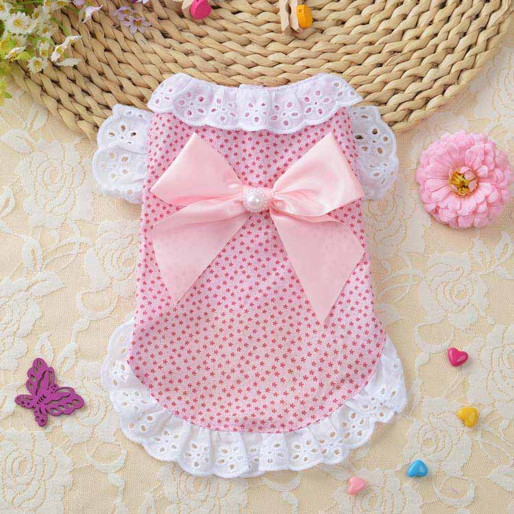 Summer New Cat Dog Clothes Puppy Dog Princess Dress Shirt With Nylon Lace Sexy Breathable Pet Clothing for Chihuahua Teddy XS S M L XL3