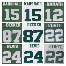 SexeMara Best quality jersey,Men's 15 Brandon Marshall 22 Matt Forte 24 Darrelle Revis 87 Eric Decker elite jerseys,White and Gr(China (Mainland))