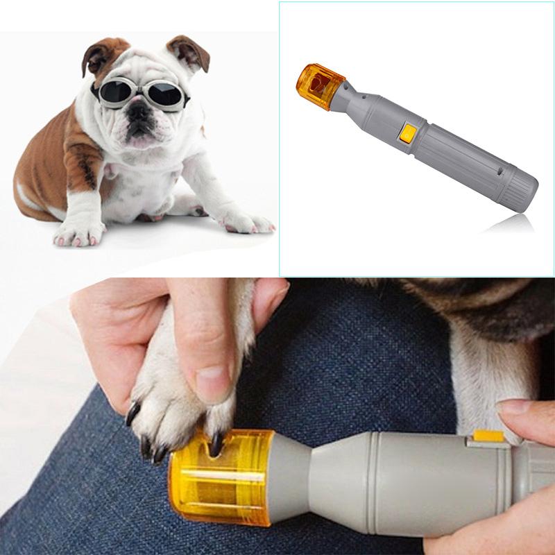 Electric Pet Pedicure Nail Trimmer Pet Nail Tools Grinding Dog Nail Clippers Dog Grooming Machine Supplies #70208(China (Mainland))
