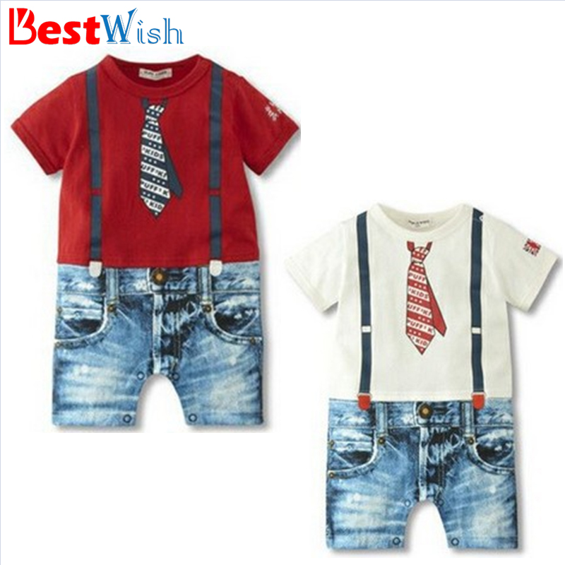 Factory Price Discount Short Sleeves Baby Boys Rompers Tie Strap 100% Cotton Rompers Boy Jumpsuit Children Clothes Bebes CM0025(China (Mainland))