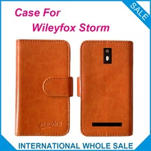 Factory Price Hot! 2016 Wileyfox Storm Case High Quality Leather Exclusive Case for Wileyfox Storm Cover Phone Tracking