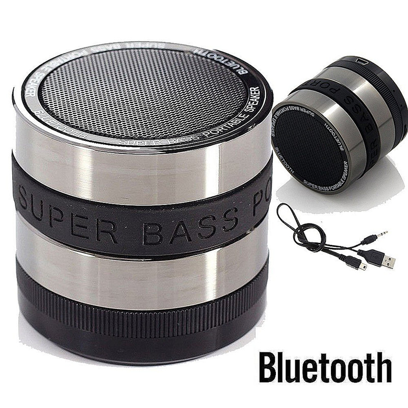 Metal Mini Portable Bluetooth Speaker Support Mic TF Card Slot Wireless Stereo Speakers for mobile phone Laptop MP3 MP4 Player(China (Mainland))