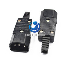 IEC 320 C14 Rewirable Connector Male Plug 10A 250V Power Adapter Quality(China (Mainland))