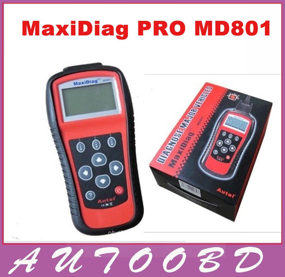 2016 100% ORIGINAL Autel MD801 pro Au*tel maxidiag 4 in 1 scan tool MD 801 (JP701 + EU702 + US703 + FR704) in stock(China (Mainland))