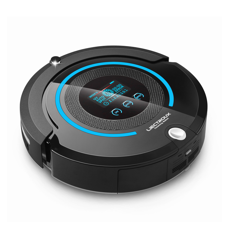 Smart A338 Robot Vacuum Cleaner 2-way Space Isolator LCD Touch Screen HEPA Filter Auto Recharge Full Go Vacuum Cleaner(China (Mainland))