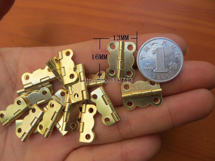 16 * 13MM small wooden box hinge 4 division lace Yellow Pages iron Hinge herrajes muebles(China (Mainland))
