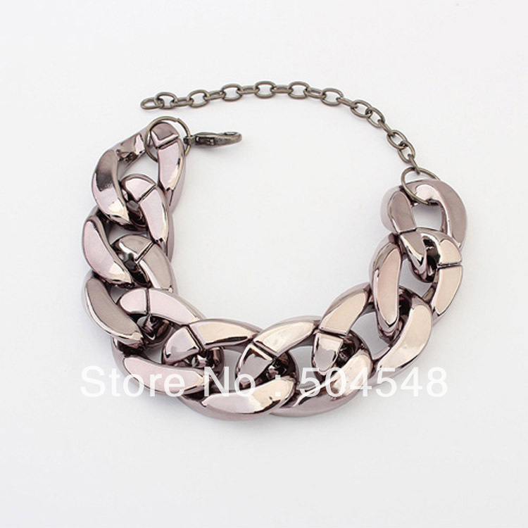 Hot sell!Europe and America Crude chain Simple wild bracelet women charm bracelets-Best Chosen Gift free shipping(China (Mainland))