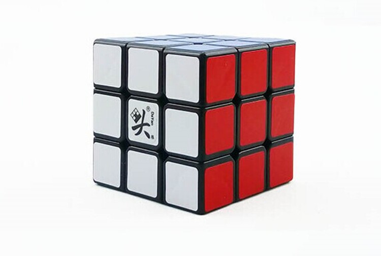 New DaYan ZhanChi Black V 5 42mm 55mm 3x3x3 Stickerless Version Speed Magic Cube Puzzle(China (Mainland))