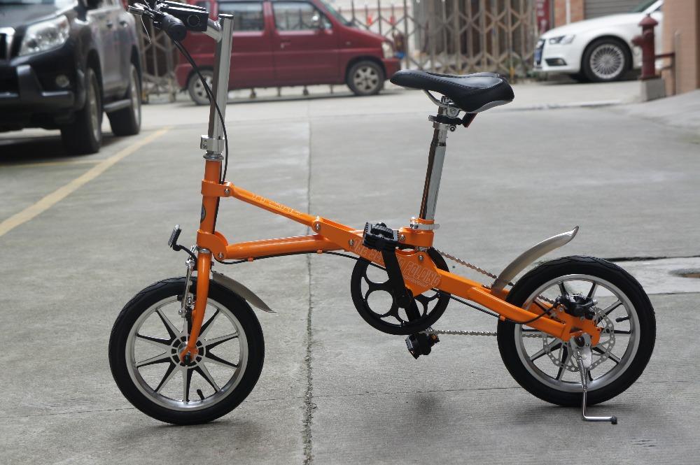 Mini Folding Bike folding bicycle Road Bikes 14 Inch Portable Bicycle Aluminum Alloy bici