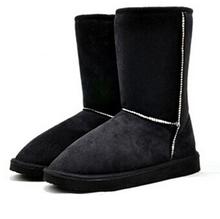 Nueva Llegada 1 Par 6 Colores Venta Caliente de la Manera de Las Mujeres de Invierno Botas de Nieve Caliente Botas Zapatos de Invierno Zapatos Planos PA871406(China (Mainland))