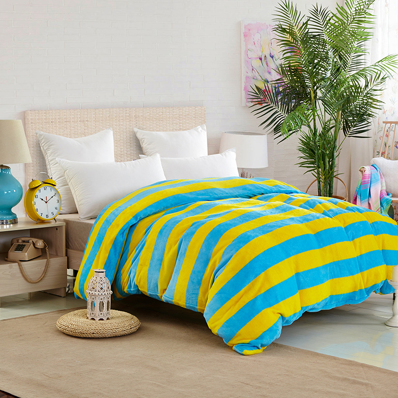 Gallery for blue and yellow striped bedding - Blue and yellow bedding sets ...