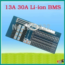 13S 30A li-ion 54.6V 48.1V BMS PCM small battery protection board bms pcm with balance for electric bike battery cell pack(China (Mainland))