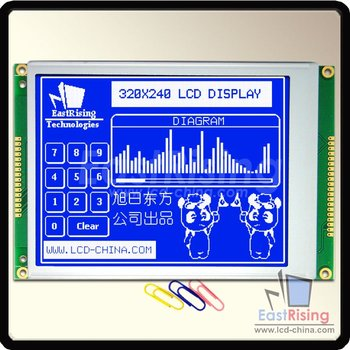"Free Shipping,5.7"" inch 320x240 LCD Module,RA8835 Controller,White on Blue Color,Optional Touch Panel,Suitable for Industry"