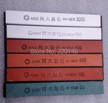 6pcs/set ADAEE 80#180#400#800#1500#3000# sharpening stone whetstone for knife sharpener system(China (Mainland))