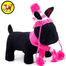 Petcircle Stripe Dog Hat and Scarf 2 Color Size XXS-L Dog Hat Winter Pet Hat dog scarffor chihuahua pet products Freeshiping