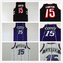 2015 di alta qualità pallacanestro jersey, toronto #15 vince carter jersey, ricamo logos retro basketball jersey spedizione gratuita(China (Mainland))