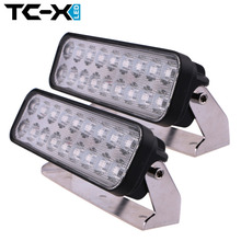 TC-X 2PCS 9 Inch 54W LED Light Bar Ultra Flood Lights for Truck Trailer Off Road Lighting 4WD ATV UTV SUV LED Working Light lamp(China (Mainland))