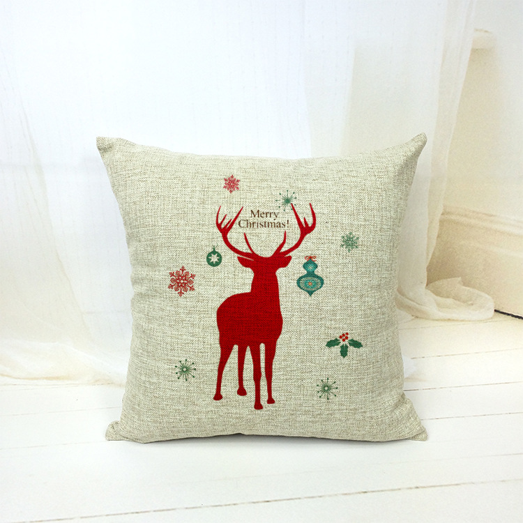 18 X 18 Christmas Deer Snowflake Decorative Throw Pillows Kussens Home Decor Cushion Coussin Cuscini Scandinavian Cojin Almofada