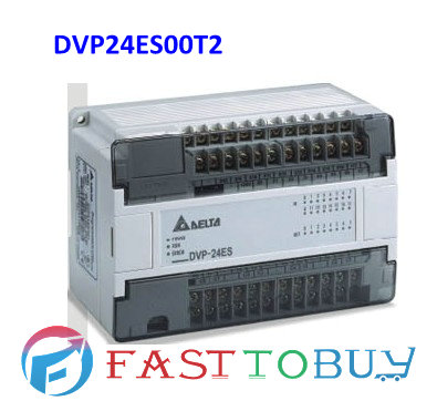 Delta PLC ES series DVP24ES00T2 24-point 16DI-8DO (NPN transistor) AC power New Free shipping<br><br>Aliexpress
