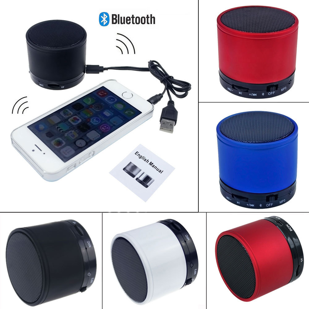 Portable Mini Bluetooth Speakers Boombox Wireless Handsfree Speaker With Microphone Support TF Card For iphone Samsung PC MP3(China (Mainland))