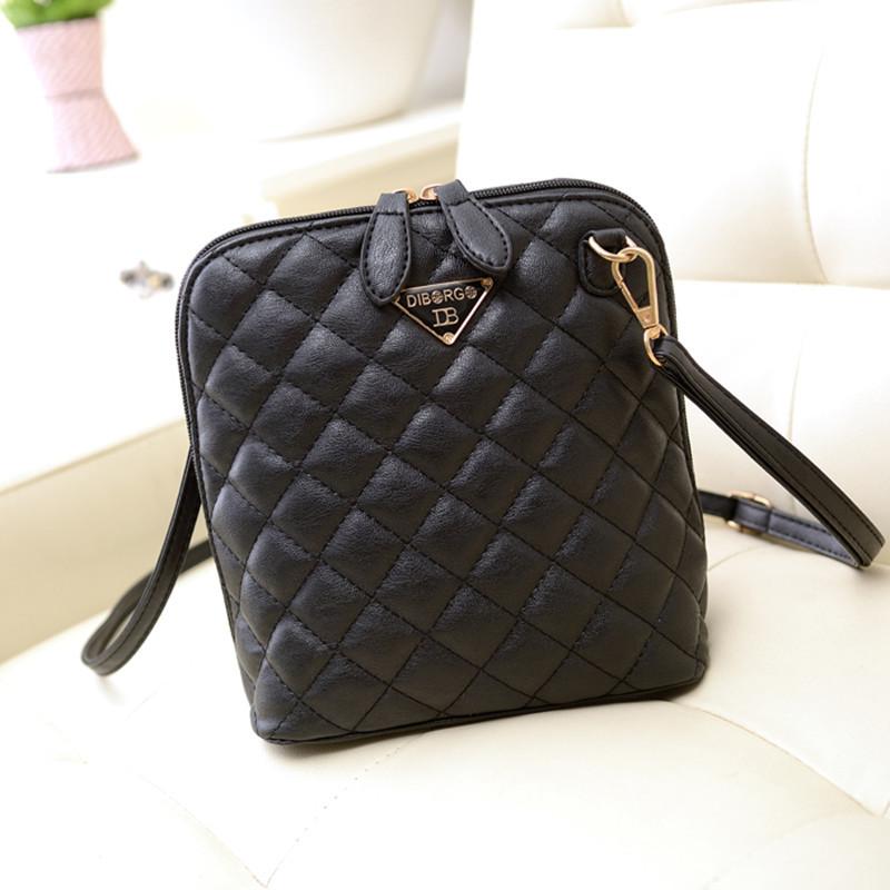 Hot selling women leather handbag plaid small shell women messenger bags fashion Crossbody women bag(China (Mainland))