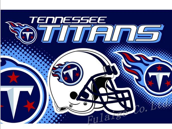 Tennessee Titans Flag 3ft x 5ft Polyester NFL Tennessee Titans Banner Flying Size No.4 150* 90cm(China (Mainland))