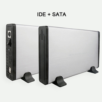 Sliver 3.5 Inch USB 2.0 IDE SATA HDD Hard Drive Case HDD External Enclosure Case HE1010 Free Shipping