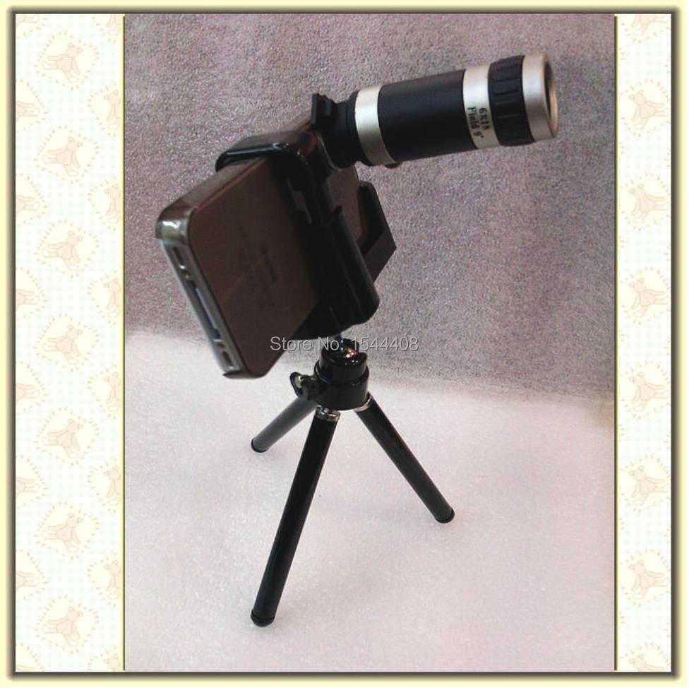 Portable 8X phone camera lens Telescope for iphone3G/3GS external camera for mobile with tripod(China (Mainland))