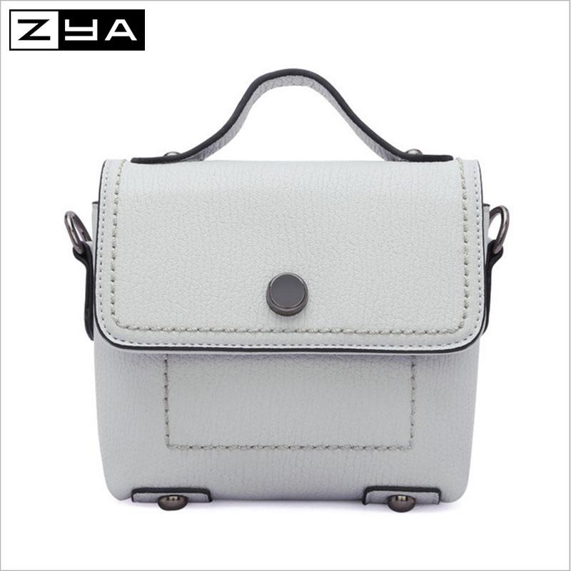 ZYA mini fashion women hang bags summer solid business soft shoulder bags fresh PU leather women messenger bags(China (Mainland))