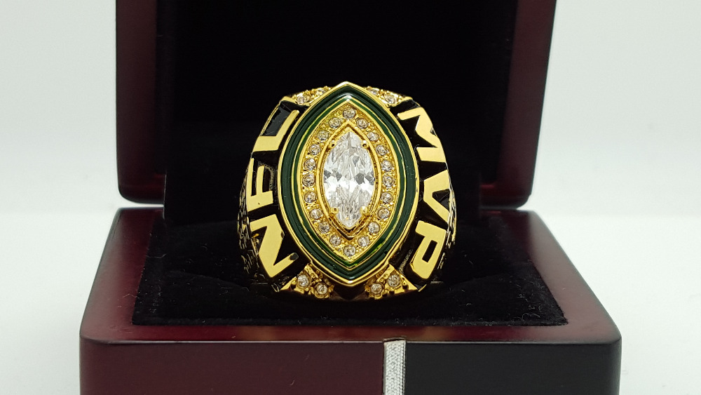 2014 Green bay packers super bowl ring for MVP player Rogers ring 8-14 Size copper solid ingraved inside(China (Mainland))