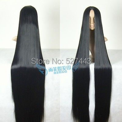Hot Sell H&amp;y05568&gt;&gt;&gt;&gt;&gt;&gt;Cosplay Wig 150cm long Straight Hair wig Black wig Costume Stage Television <br><br>Aliexpress