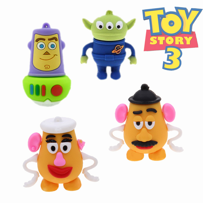 Garunk pendrive toy story Aliens USB Flash Drives thumb Woody pendrive memory stick u disk Mr. Mrs.Potato Head 4G usb 8G 16G 32G(China (Mainland))