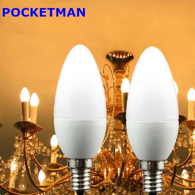 1pcs Led Candle Light Bulb E14 SMD2835 220V Energy Saving Lamp Velas Bombilla Decorativas Home Lighting Led Lamp 220V E14 Bulb