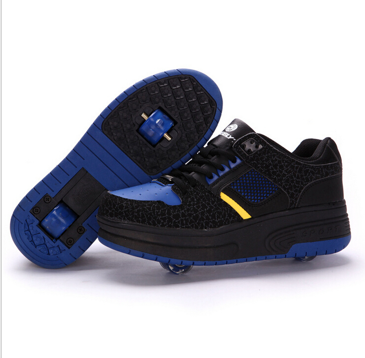 2015heelys adult children boy girl automatic invisible button skate heelys roller shoes with wheels zapatillas con ruedas heelys(China (Mainland))
