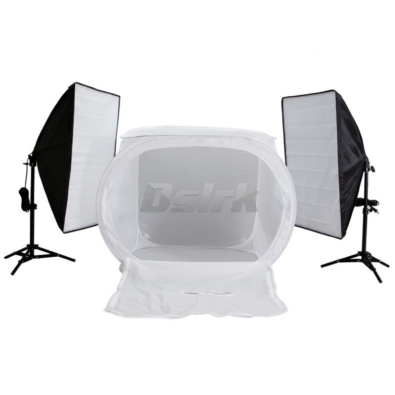 Фотография 60CM Light tent +3pcs  Softbox+2pcs 65CM Light stand Photography Softbox Light Kit Free Shipping