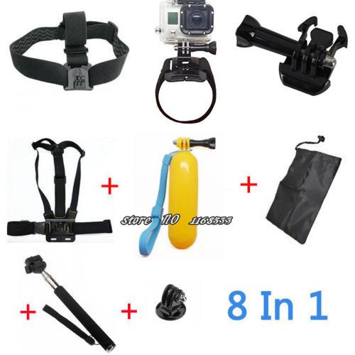Gopro Accessories Hero 3 Sj4000 Kit Chest Belt Head + Hand Mount Strap +