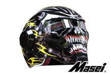 Personality motorcycle helmet Genuine male iron 610 man retro the high-end off-road motorcycle ghost black and yellow(China (Mainland))