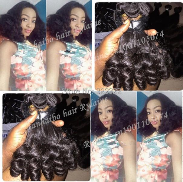 Hot selling!7a grade 1b# peruvian aunty funmi hait 100% virgin tip bouncy curls hair extension 3pcs/lot free shipping<br><br>Aliexpress