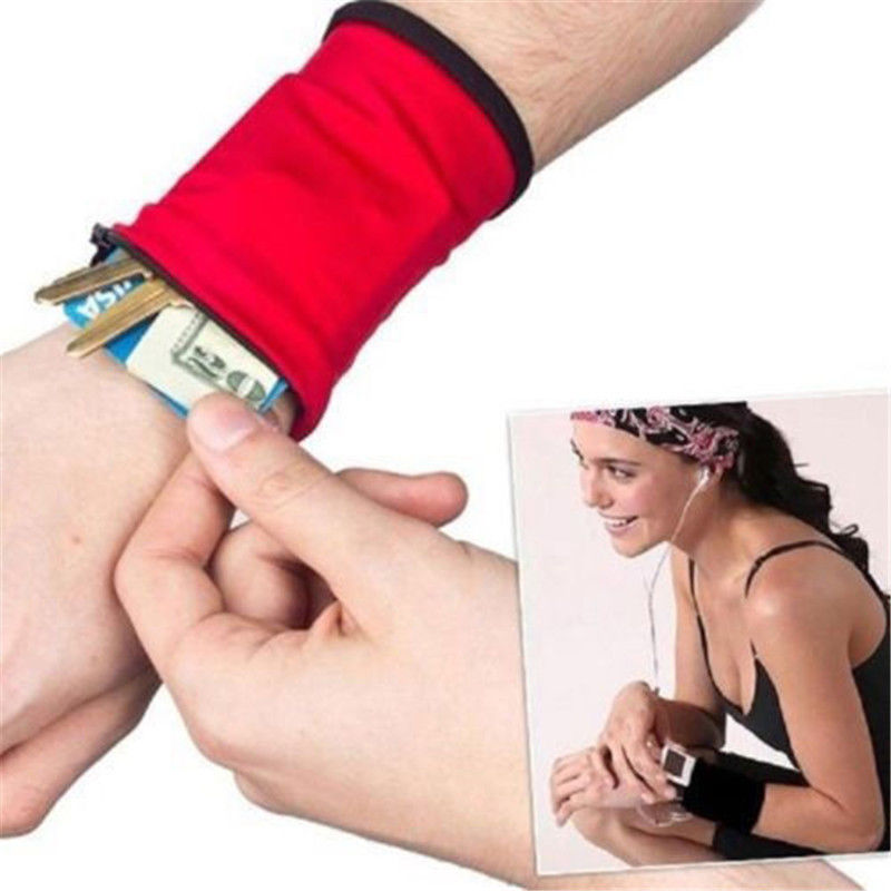 New Outdoor Wrist Band Safe Wallet Storage Zipper Ankle Wrap Sport Strap(China (Mainland))