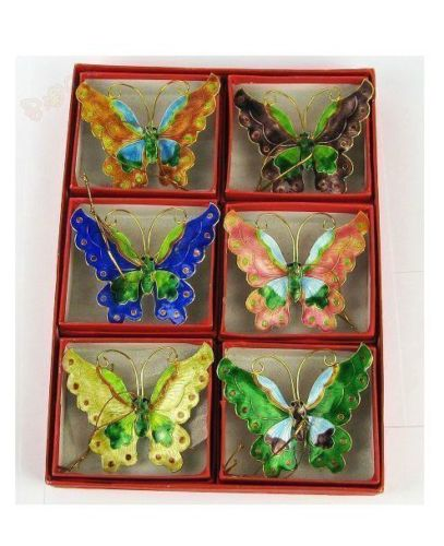6pcs 27cm Christmas Tree Honeycombs Tissue Paper Trees: Wholesale 6pcs Chinese Style Handmade Cloisonne Butterfly
