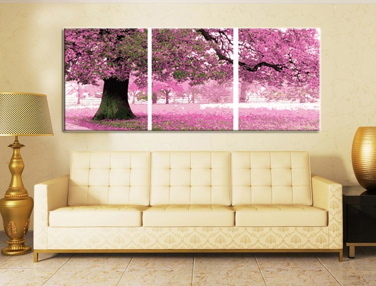 Framed 3 piece canvas wall art sets digital oil painting for 3 piece wall art