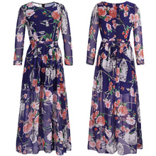 Buy Plus Size XXXL XXXXL 5XL Loose Chiffon Floral Dress Women Dresses 2017 Spring Long Sleeve Casual Boho Maxi Dress Ropa Mujer Q958 for $18.35 in AliExpress store