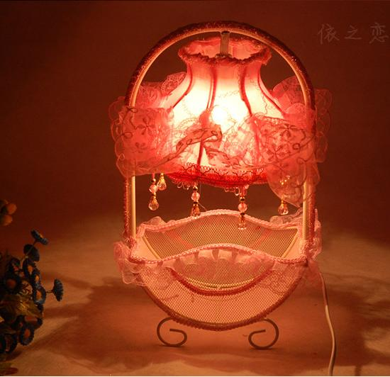 Bedroom bedside lamp fashion red wedding gifts table lamp birthday(China (Mainland))