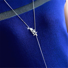 Buy Hollow Star Long Necklace Women Bijoux Simple Sweater Necklaces & Pendants New Fashion Jewelry Cute Gift for $2.82 in AliExpress store